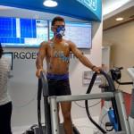 Atleta durante a performance do equipamento de Ergoespirometria TEB/Geratherm
